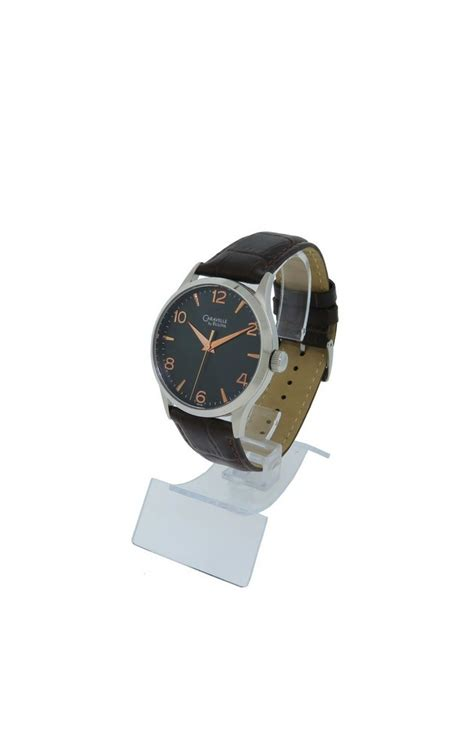 Hush Puppies Hp049 Brown Black Rosegold caravelle by bulova 43a105 s black analog gold tone leather ebay