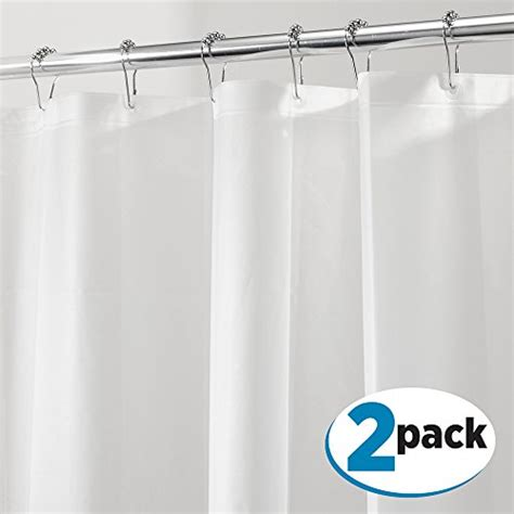 chemical free shower curtain mdesign peva 3g shower curtain liner pack of 2 pvc free