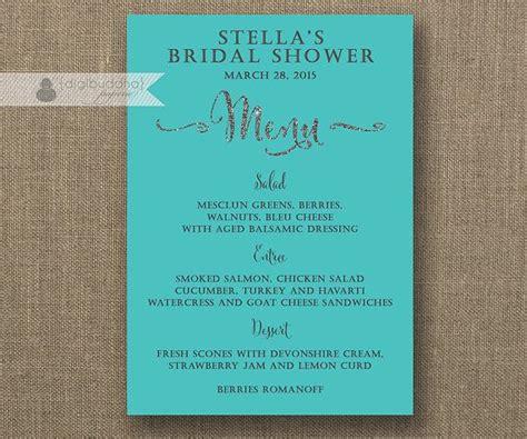 bridal shower menu 2 26 best images about digibuddha menus wedding programs