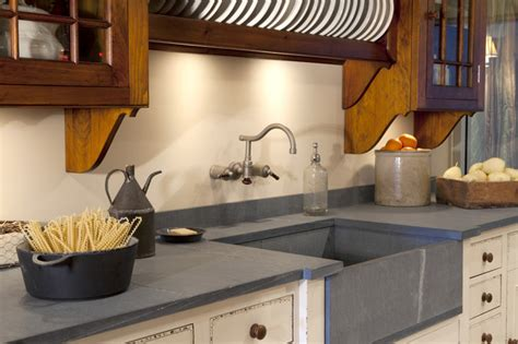 Pietra Cardosa Countertop by Pietra Cardosa Granite Traditional Kitchen Boston By Marble And Granite Inc