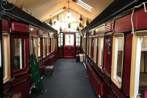 seaside home   victorian train carriages