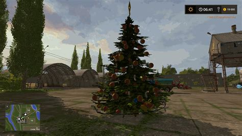 christmas tree v1 1 ls 2017 farming simulator 17 mod