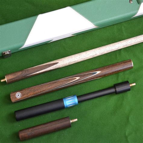 Snooker Cues Handmade - handmade 4 snooker cue set with green white