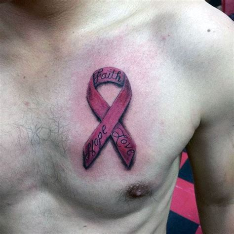 pink ribbon tattoos for men 40 tattoos for four letter word design ideas