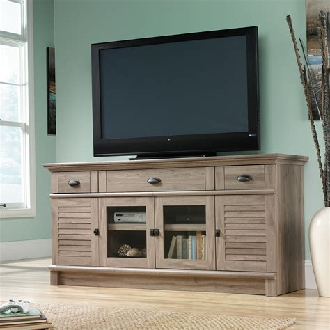 sauder harbor view dresser salt oak sauder harbor view credenza salt oak stands at