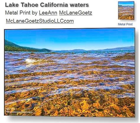 Tahoe Sand And Gravel Lake Tahoe Wood And Watercolor Background On