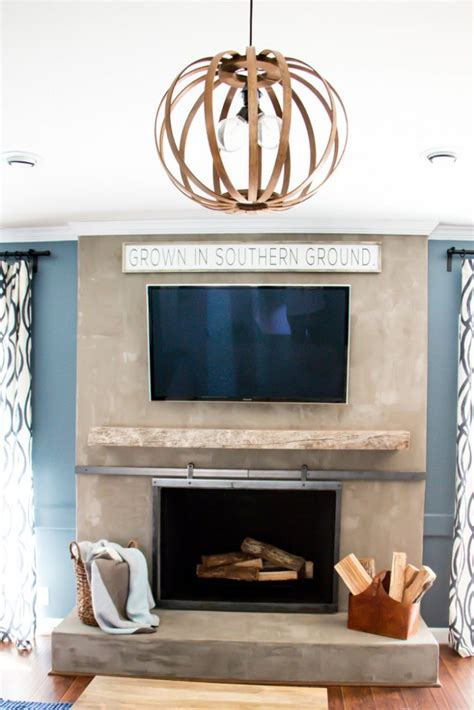 How To Display Without A Fireplace by How To Make A Barn Door Style Fireplace Screen