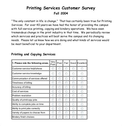 12 customer survey templates free sle exle