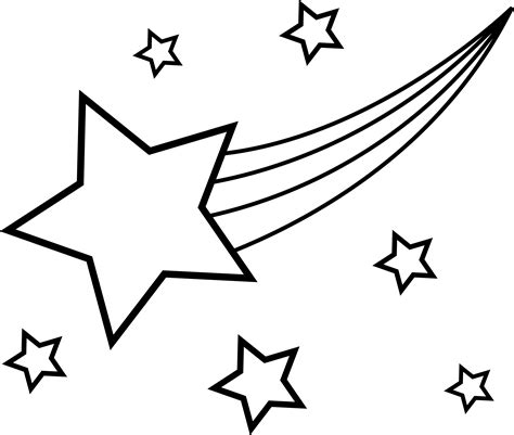 shooting star line drawing clipart best