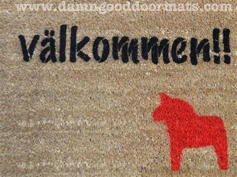 Komik Kolpri Our Field Of No32 swedish dala doormat damn doormats