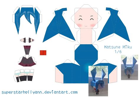 Miku Papercraft - chibi crafts design