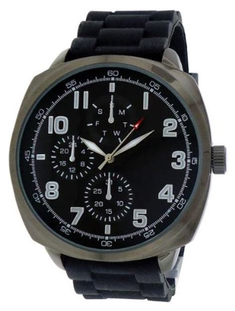s watches fmd by fossil mossimo black large rubber