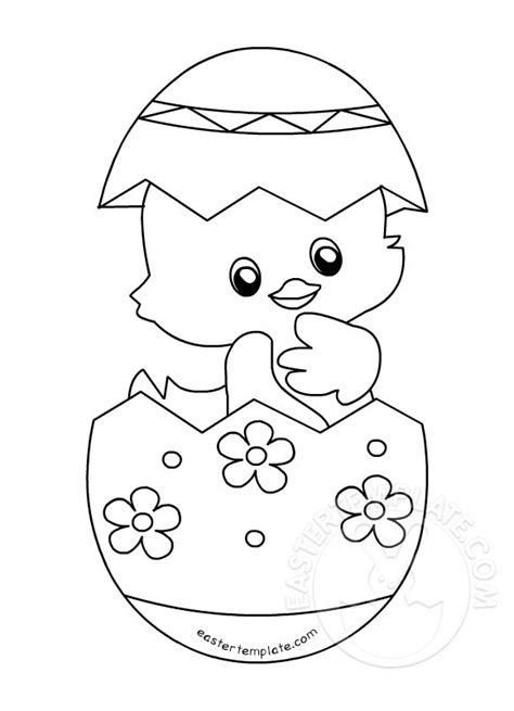 Cute Easter Chick coloring page   Easter Template