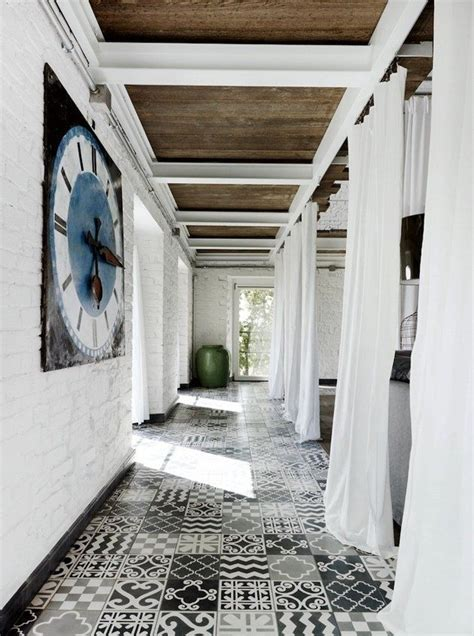 black patterned floor tiles patterned tiles floors i saw and liked decorator s notebook