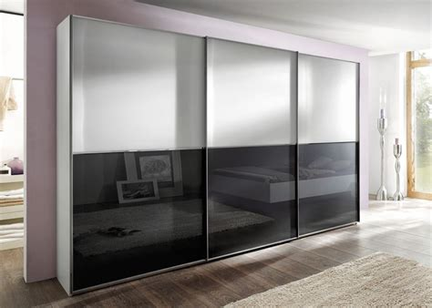 Best Sliding Wardrobes by Nolte Attraction Plain And Glass Doors Top And Bottom