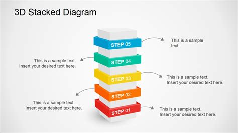 3d Stacked Diagram For Powerpoint Powerpoint Diagrams