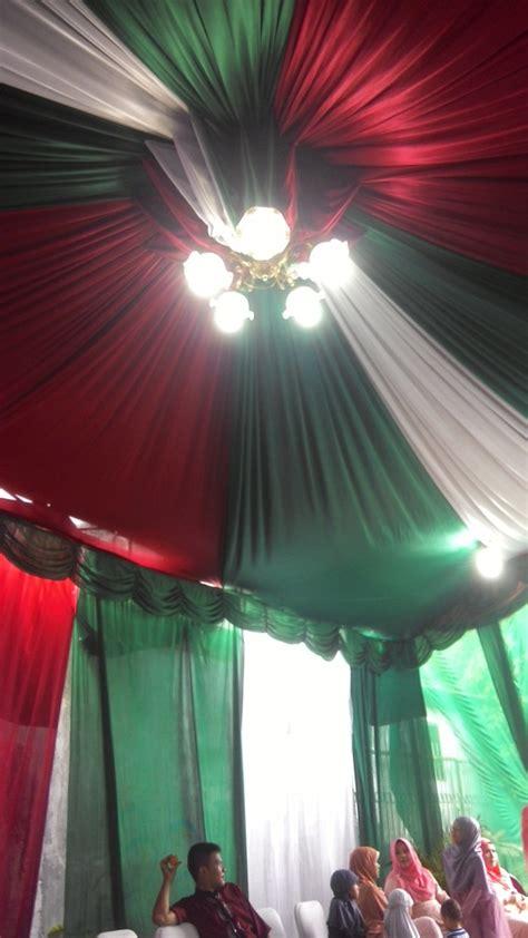 Tenda Dekor tenda dekor putih hijau merah 171 ns tenda