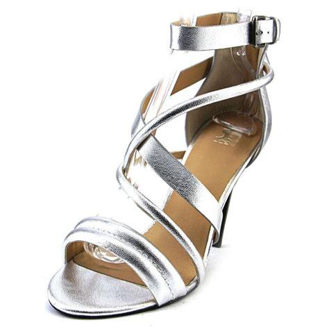 silver sandals for joe s joe s robbie faux leather silver sandals heels