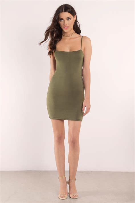Mini Dress Md Povilo olive dress mini dress green dress stretch dress bodycon dress tobi