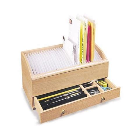 Wooden Personal Secretary Letter And Bill Organizer Bill Organizer Desk