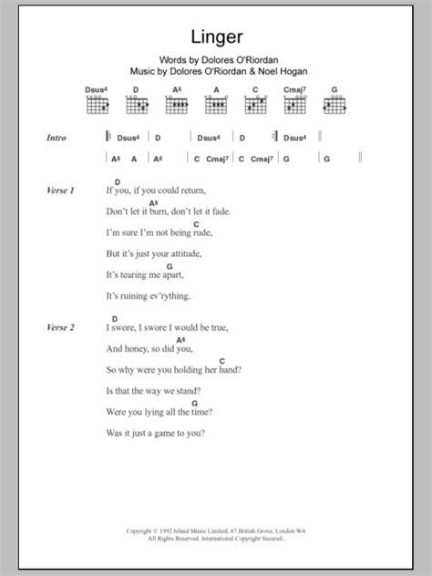 Linger Guitar Chords