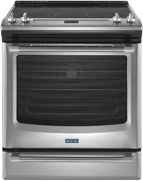 Single Wall Oven With Warming Drawer by Maytag Mes8880ds 30 Inch Slide In Electric Range With 5