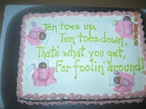 what to write on cake for baby shower baby shower cake yes yes it is