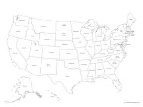powerpoint 174 map of united states of america with states