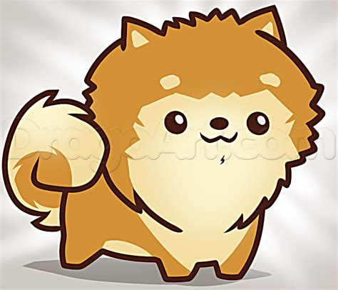 how to a pomeranian how to draw a pomeranian puppy step by step animals for for free