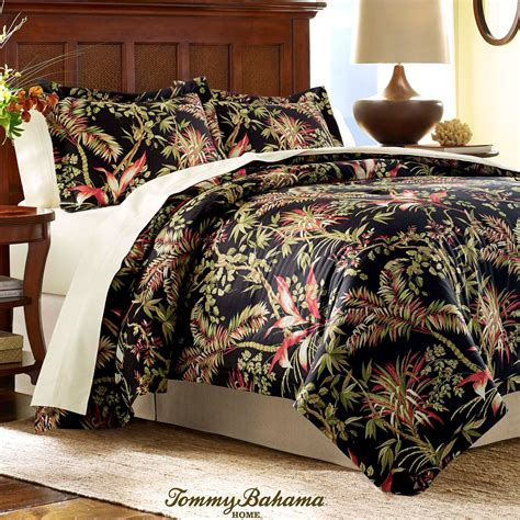 Off White Duvet Cover Queen Jungle Drive Black Tropical Duvet Cover Set By Tommy Bahama