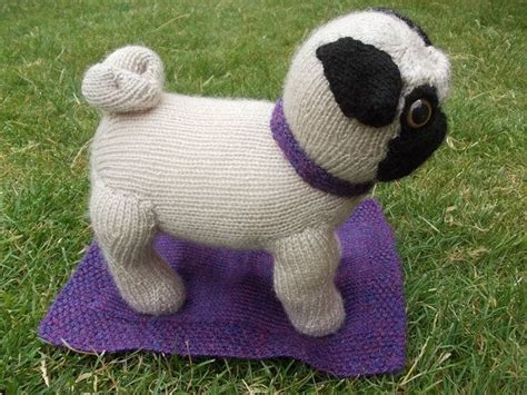 Fawn Knitted Pug With Collar And Blanket By Pugsinblankets