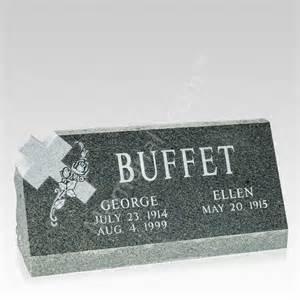 grave markers cross slant grave marker