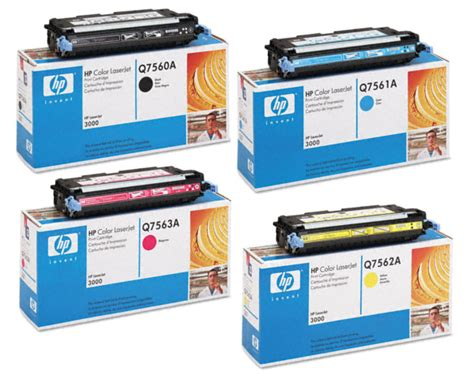 Toner Q7560a 4 color set of toner cartridges part q7560a q7561a q7562a q7563a