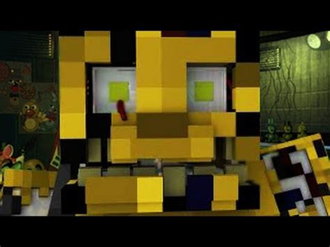 minecraft freddys nights at five five nights at freddy s 3 animated minecraft animation