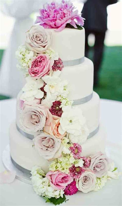Wedding Cake Flower Tops by Flowers Meet Flour Experience And Creative Design Ltd