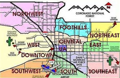 map of tucson 17 best images about my new home tucson on theater image search and compact disc