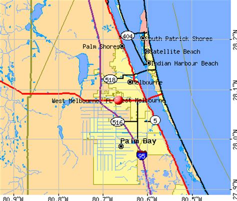 map of florida viera west melbourne florida fl 32904 profile population