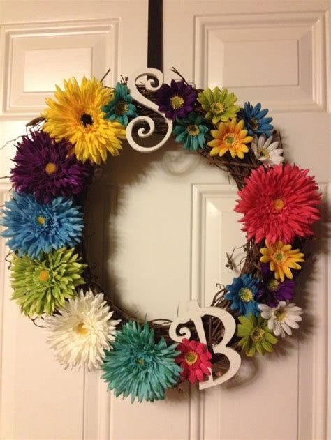 wreaths diy diy summer wreath she s crafty pinterest