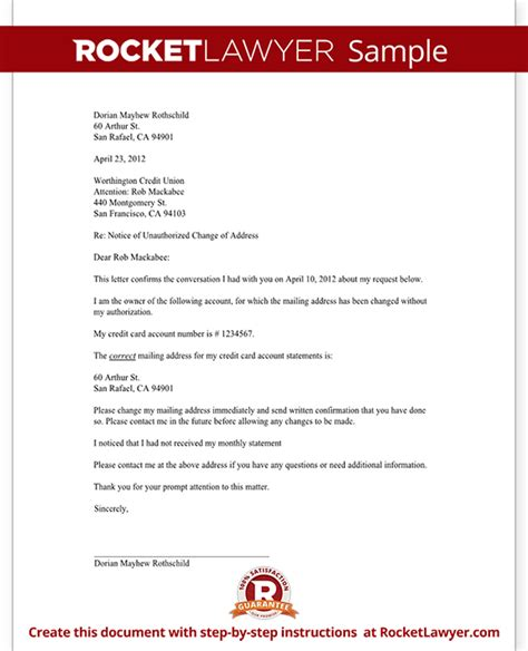 Company Credit Account Letter Letter To Notify A Credit Card Company Of An Unauthorized