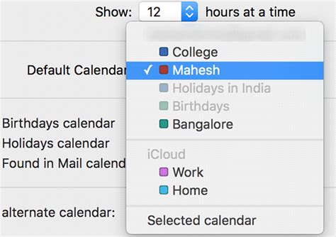 make calendar default how to set the default calendar in os x and ios