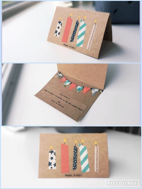 washi tape diy make your own birthday card diy washi tape a r t