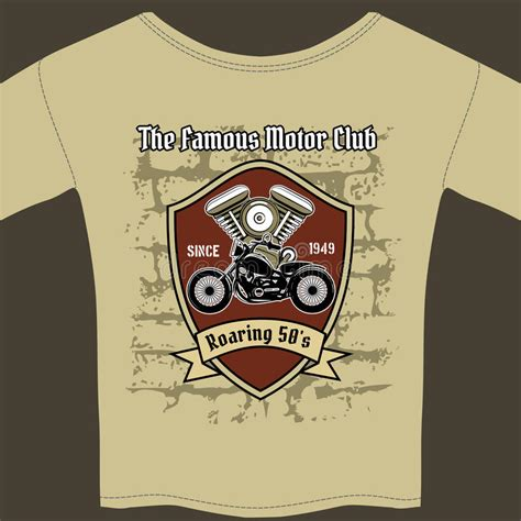 T Shirt Design For A Motorcycle Workshop Stock Vector Image 42703650 Affinity Designer T Shirt Template