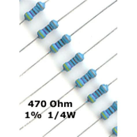 470 ohm resistor for led buy 50 x 470 ohm metal resistors 1 4w 1 pack of 50 melbourne australia