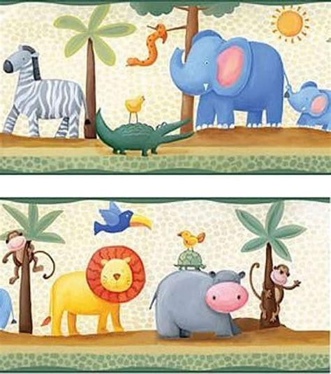 childrens borders for bedrooms uk jungle animal border with lions elephants zebras