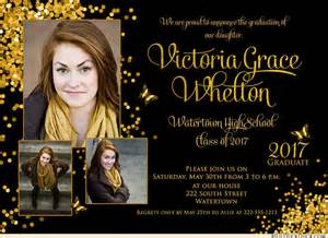 confetti script graduation announcements 2017 bold ceremony