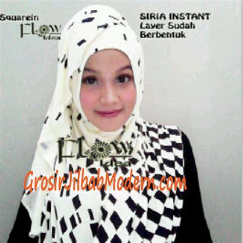 Jilbab Instan Putih jilbab instant squarein putih tulang grosir jilbab