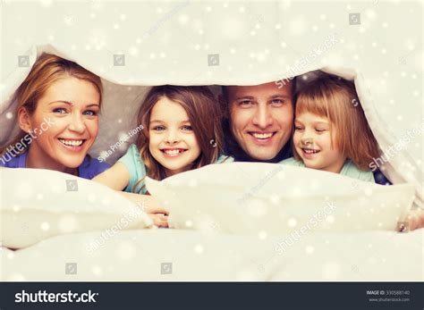 family comfort family children comfort bedding home concept stock photo