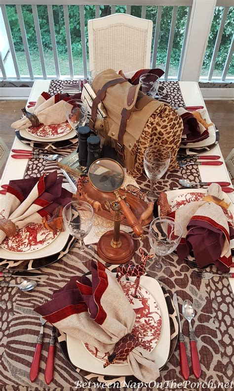 ideas for christmas decorting for south africa at school an safari themed table setting