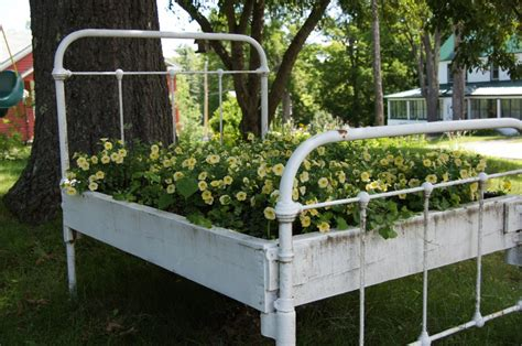repurposed bed frame new use for an old thing groovy green livin