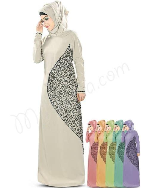 Jilbab Square Lace Katun Erow beautiful embroidered warm grey wear abaya mybatua hena abaya style no ay 346